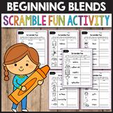 S Blends Worksheets R Blends Activities Spring Word Scramble