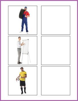 Community Helpers Word to Picture Matching Activity