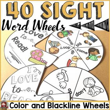 SIGHT WORDS: READING/SPELLING WORD WHEELS