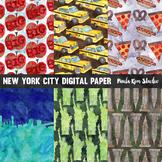 New York City Watercolor Digital Paper