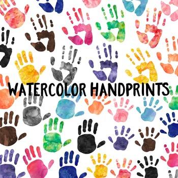 Watercolor Handprint Clip Art