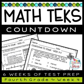 4th Grade Math TEKS Countdown - Week 4