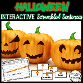 Scrambled Sentences: Interactive Halloween Center