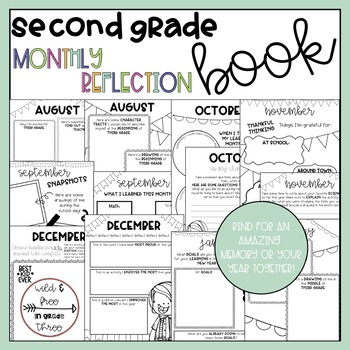 Second Grade Monthly Reflection and Memory Book