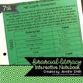 Seventh Grade Financial Literacy Interactive Notebook Alig