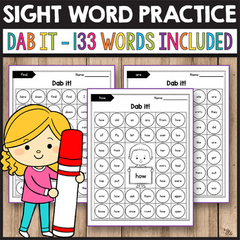 Sight Word Games Kindergarten - Dab It