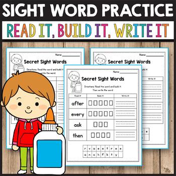 Sight Word Practice Preprimer - Read, Buid, Write