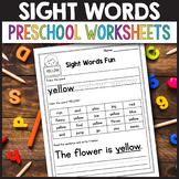 Sight Word Practice Sheets Preprimer - Sight Word Worksheets Pre k