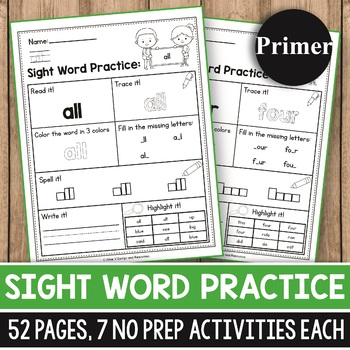Sight Word Practice for Kindergarten - Sight Word Activities