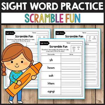 Sight Word Scramble Fun