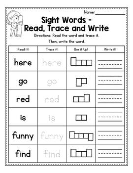 Fry First 25 Sight Words - Say, Trace and Write by Sundai ...  |Trace And Write Sight Words