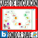 Spanish Articulation game Boom Cards R Suave Español Terap