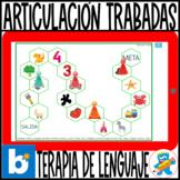 Spanish Articulation game Boom Cards Trabadas sinfón Españ