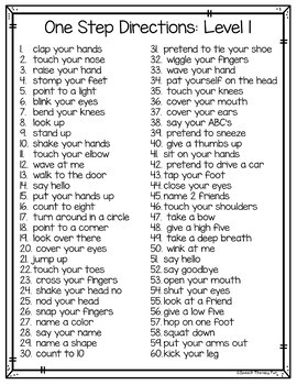 Speech Therapy Word Lists