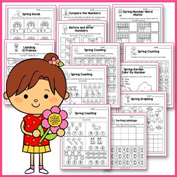 Spring Activities For Kindergarten -  Math Worksheets #springintosavings