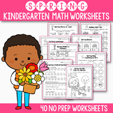 Spring Activities For Kindergarten - Spring Math Worksheet