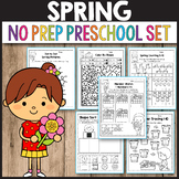 Spring Activities Math Worksheets for Preschool Kindergarten Morning Work