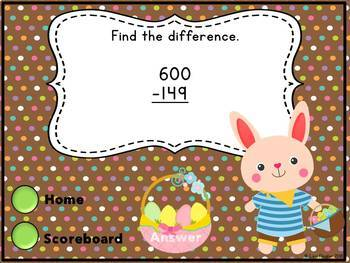Spring Interactive Math Game 2nd Grade Edition