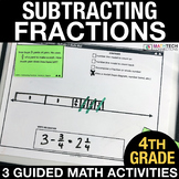Subtracting Fractions - Guided Math Activities and Exit Ti