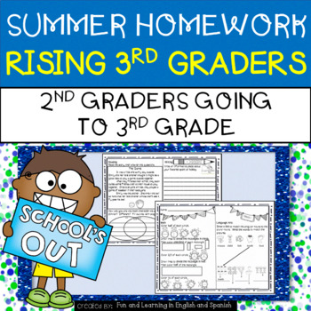 Summer Homework for Rising 3rd Graders (2nd Graders going to 3rd Grade)