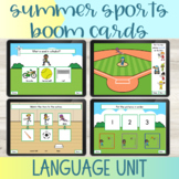 Summer Sports Language Boom Cards™ for Speech Therapy