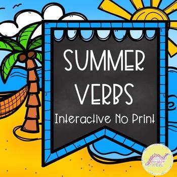 Summer Verbs Interactive No Print