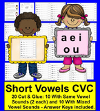Short Vowels Cut & Glue, Rainbow Words, Tracing!  SET TWO