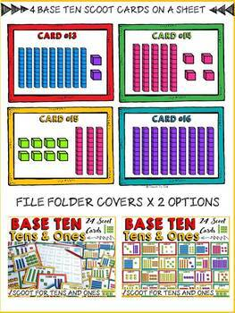 BASE TEN: TENS AND ONES SCOOT CARDS
