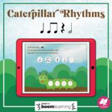 Caterpillar Rhythms: Half Note - BOOM Cards