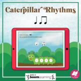 Caterpillar Rhythms: Quarter Note, 8th Notes - BOOM Cards