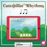 Music Distance Learning: Caterpillar Rhythms: Quarter and 8th Notes - BOOM Cards