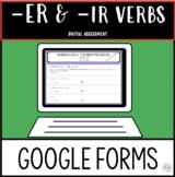 Distance Learning ER & IR VERBS in Spanish Assessment GOOG