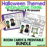Halloween Themed Interactive Book Prepositions & Pronouns