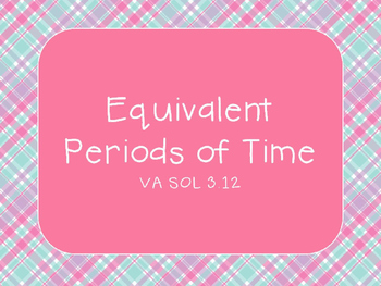 Equivalent Periods of Time PowerPoint BUNDLE