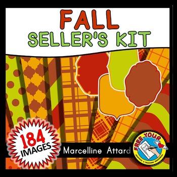 FALL CLIPART PACK: AUTUMN SELLER'S KIT: FALL SELLER'S KIT: AUTUMN CLIPART BUNDLE