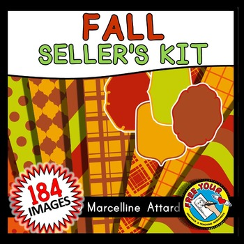 FALL CLIPART PACK (AUTUMN SELLER'S KIT OR FALL SELLER'S KIT) AUTUMN CLIPART
