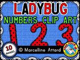 LADYBUG NUMBERS CLIPART: LADYBUG CLIPART NUMBERS: MATH LAD