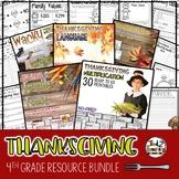 Thanksgiving Activities Bundle 4th Grade Writing Math Language and More