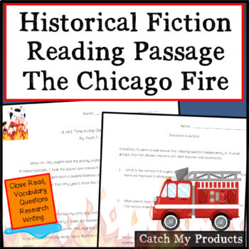 The Great Chicago Fire Historical Fiction Story - Fire Prevention Week