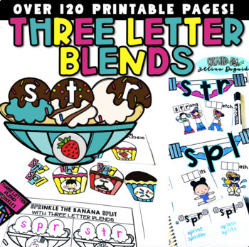 Three Letter Blends Pack {aka Trigraphs or Consonant Clusters}