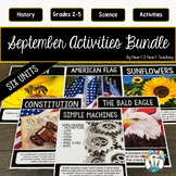 50% OFF Treasure Each Month September Activities: Sunflowers, Bees, Constitution