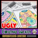 Ugly Sweater Christmas Color by Number Christmas Coloring Pages
