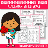 Valentine's Day Activities For Kindergarten Literacy No Prep