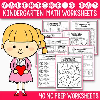 Valentines Day Activities Kindergarten Valentines Day Math Worksheet