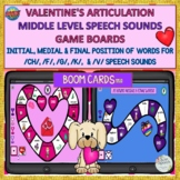 BOOM CARDS™ Valentine's Day Games: Mid Level Sounds: /CH/,