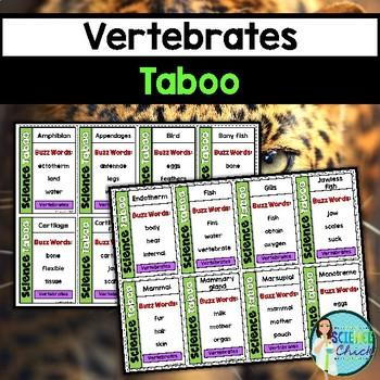 Vertebrates Vocabulary Review Game