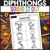 Vowel Diphthongs oi, oy, ou, ow - Dipthongs Worksheets Sound it Out