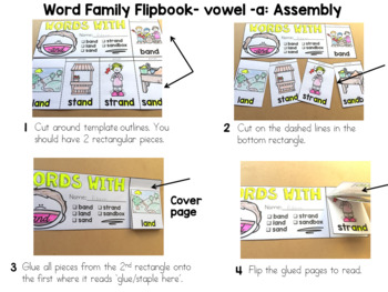 WORD FAMILY FLIPBOOKS: VOWEL -A WORDS: PHONICS