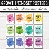 Watercolor Classroom Decor - Growth Mindset Posters