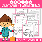 Winter Break Packet - Winter Math and Literacy No Prep Packet